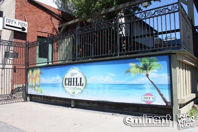 Patio Banner - Miller Chill