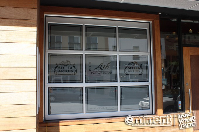 Frosted/Etched Glass Bar logos