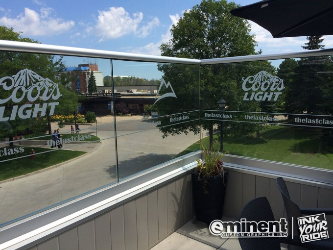 Etched Glass Patio Graphics