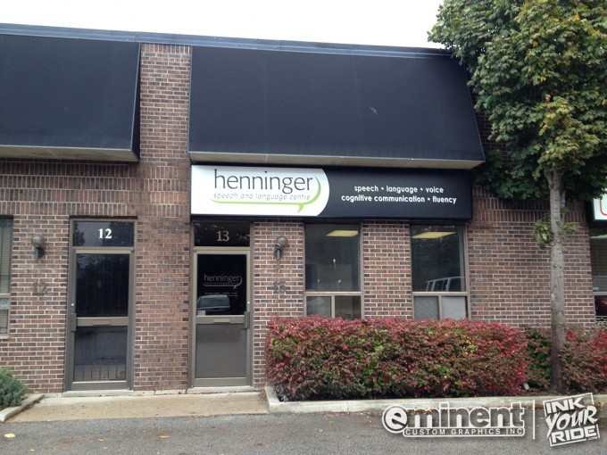 Henninger Storefront Graphics and Sign