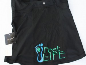 Heat pressed logo - Feet for Life