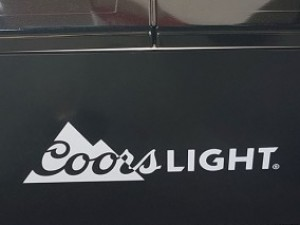 Coors Light Cooler Decal - Barrie