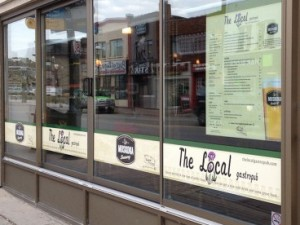 Restaurant Custom Window Wrap