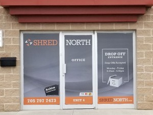 Shred North Perforated Window Wrap