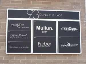 Downtown Barrie Wall Acrylic Sign Directory